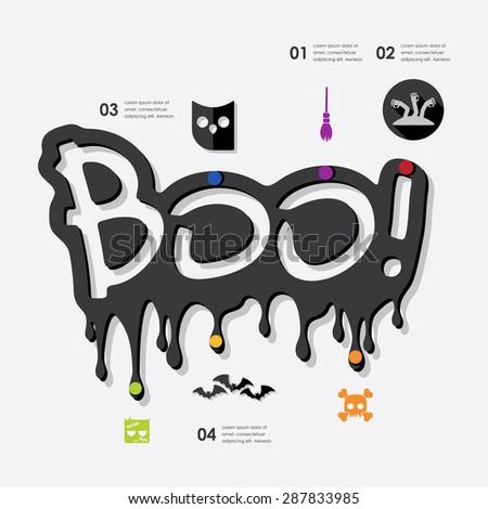 halloween infographic - stock vector