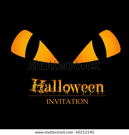 halloween invitation - stock vector