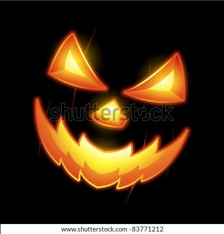Halloween Jack o lantern smiley face - stock vector