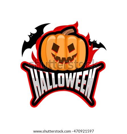 Halloween Logo Vector Icon Badge Pumpkin Stock Vector 470921597 ...