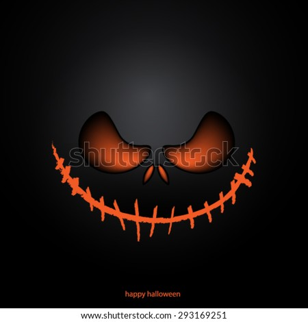 Halloween Mask Background - stock vector