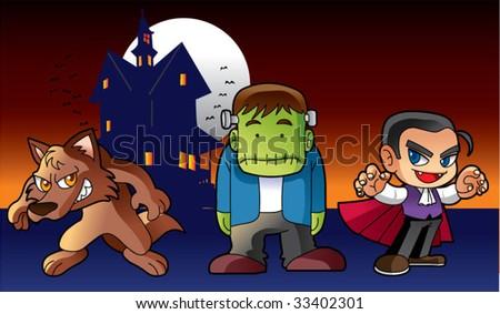 Halloween monster - stock vector