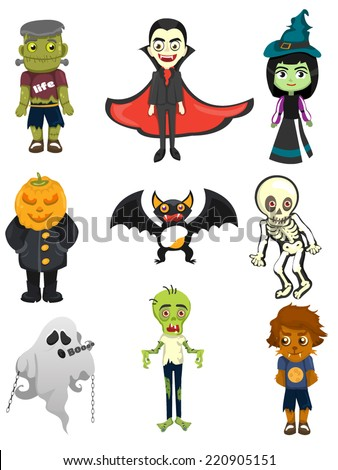 Halloween monster costume for character disguise  - stock vector