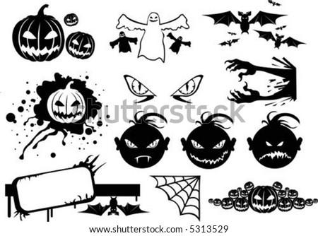halloween monsters icon - stock vector