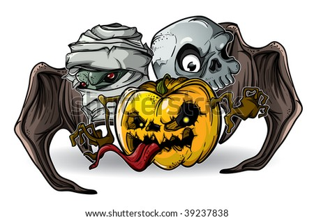 Halloween Monsters isolation - stock vector