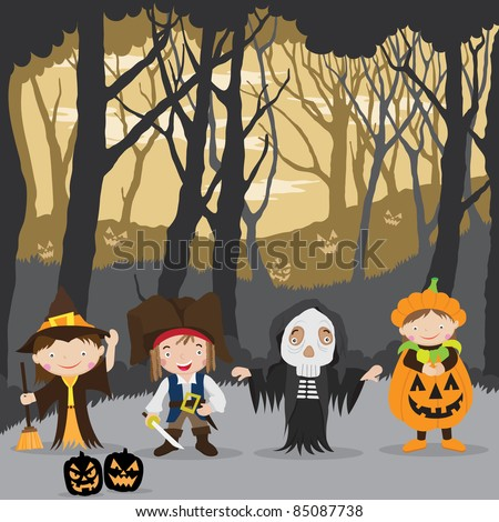 Halloween Night and kids costumes