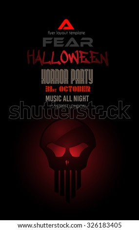 halloween night event flyer party template with space for text ideal for horror themed parties - Halloween Music For Parties