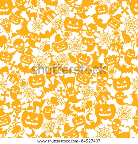 Halloween orange background - stock vector