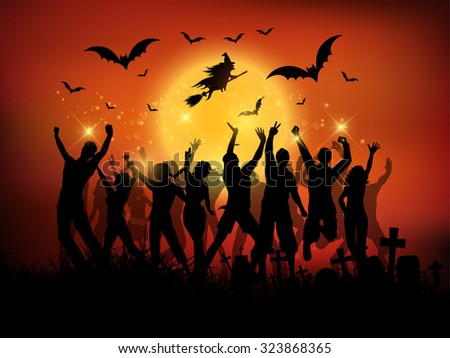Halloween party background - stock vector