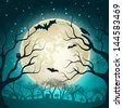 Halloween Party Background. Vector Illustration, eps10, contains transparencies. - stock