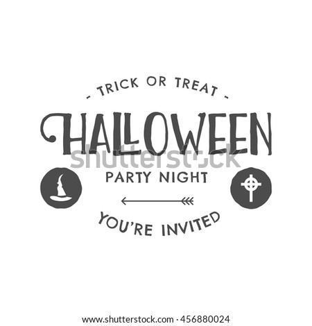 Halloween 2016 party invitation label templates stock vector halloween 2016 party invitation label templates with scary symbols witch hat and typography elements stopboris Images