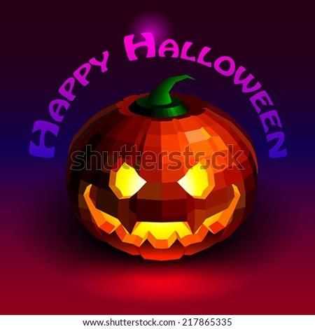 Halloween party pumpkin - stock vector