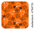 Halloween pattern- orange - others: http://www.shutterstock.com/lightboxes.mhtml?lightbox_id=498964 - stock vector