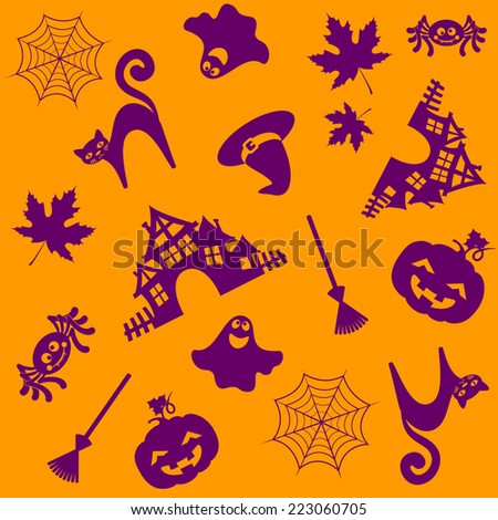halloween pattern. Vector illustration