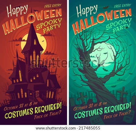 Halloween Poster Stock Images, Royalty-Free Images & Vectors ...