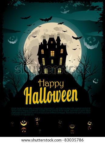 Halloween poster with place for text - stock vector