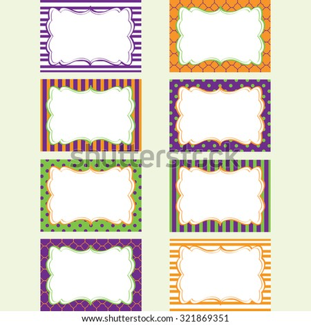 halloween printable labels set tags photo frame gift tags scrap booking