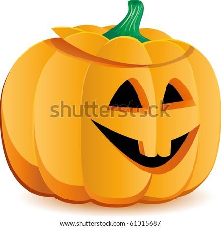 Halloween pumpkin as Jack O`Lantern, part 6, vector illustration - stock vector