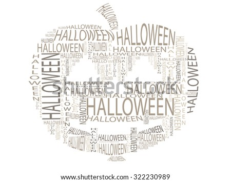halloween pumpkin complex in text graphics - stock vector