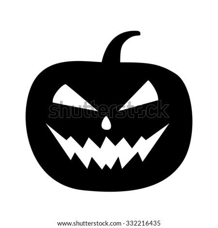 halloween pumpkin icon - stock vector