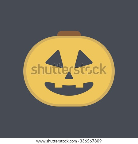 Halloween pumpkin icon. Halloween icon.