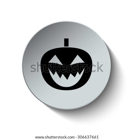 Halloween pumpkin icon. Pumpkin icon. Button. EPS10. Illustration