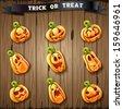 Halloween pumpkin icons - stock vector