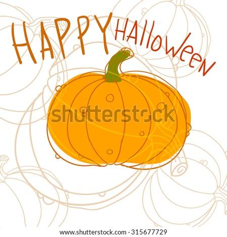 Halloween pumpkin in vector - stock vector