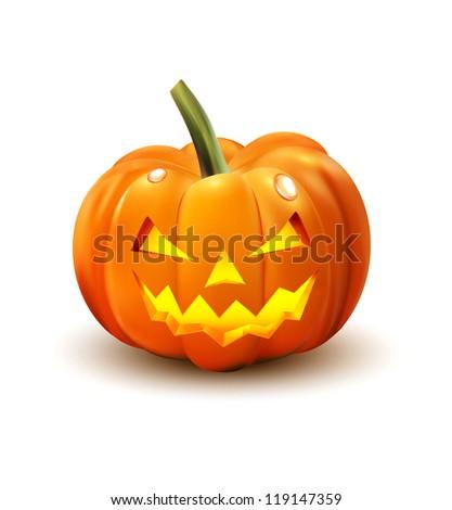 Halloween Pumpkin isolated on white background - stock vector