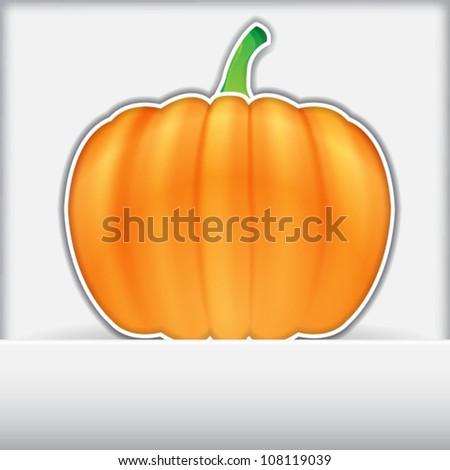 Halloween pumpkin labels, EPS10 vector - stock vector
