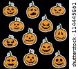 Halloween pumpkin stickers  - vector illustration - stock photo