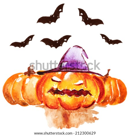 Halloween pumpkin,vector - stock vector