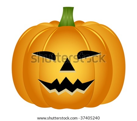 Halloween pumpkin, vector