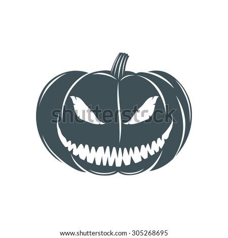 Halloween pumpkin. Vector illustration. - stock vector