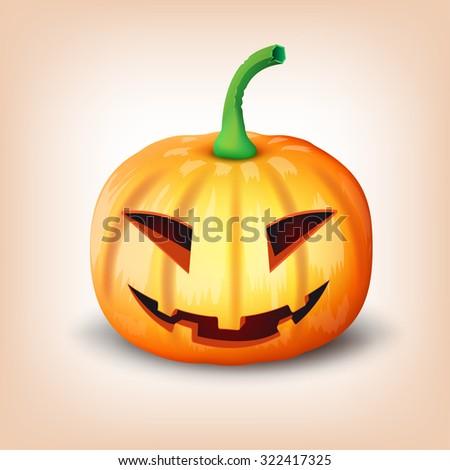 Halloween pumpkin. Vector illustration - stock vector