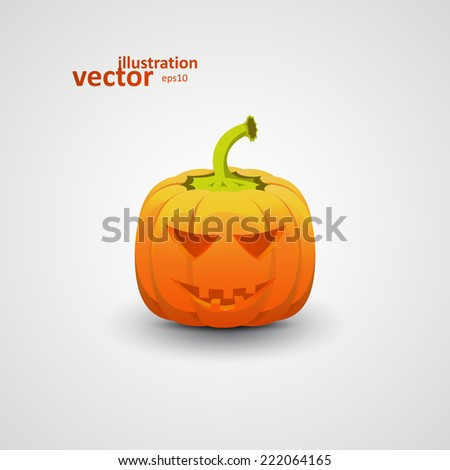 Halloween Pumpkin, Vector Illustration eps10, Graphic Concept For Your Design. - stock vector
