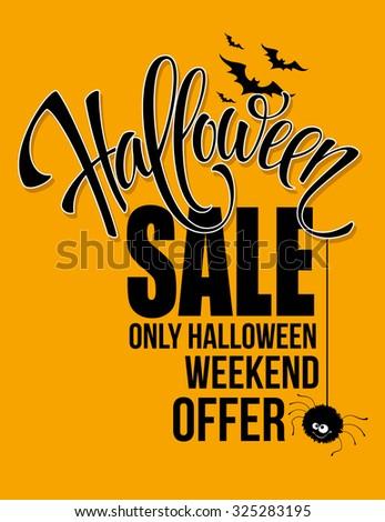 Halloween sale. Happy holiday. Vector illustration EPS 10 - stock vector
