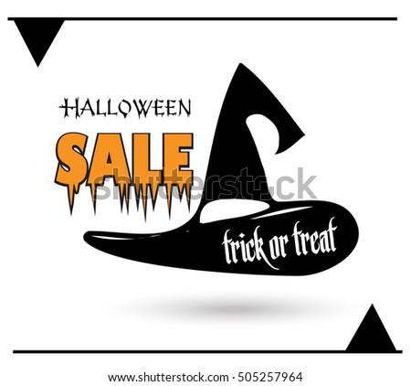 halloween sale poster halloween background halloween stock vector rh shutterstock com Halloween Background Vector Halloween Cat Vector