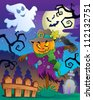 Halloween scarecrow theme image 2 - vector illustration. - stock photo