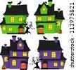Halloween scrapbook design elements - stock vector