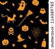 Halloween seamless background - stock vector