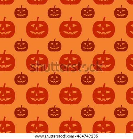 Halloween seamless pattern. Background with silhouettes of pumpkins.
