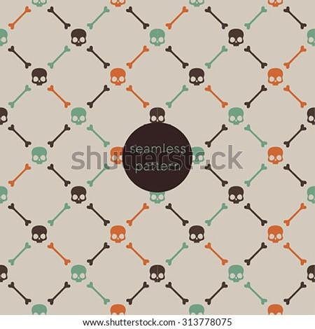 Halloween seamless pattern. Vector illustration. - stock vector