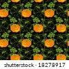 Halloween seamless pumpkin pattern - stock vector
