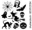 Halloween silhouettes - stock vector