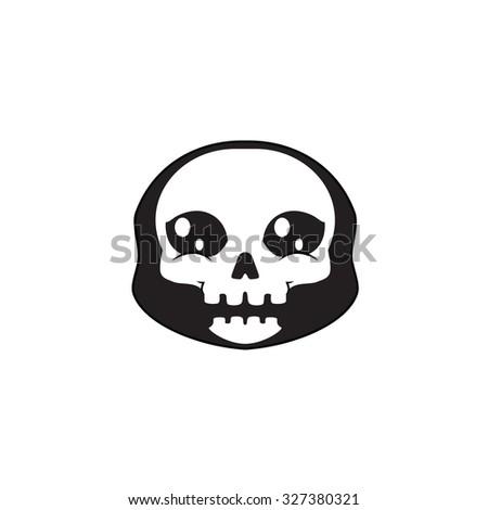 Halloween skull avatar - stock vector