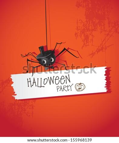 Halloween spiders - stock vector