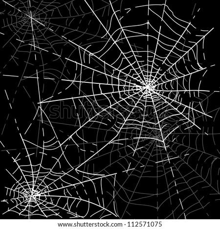 Halloween Spiders web - stock vector