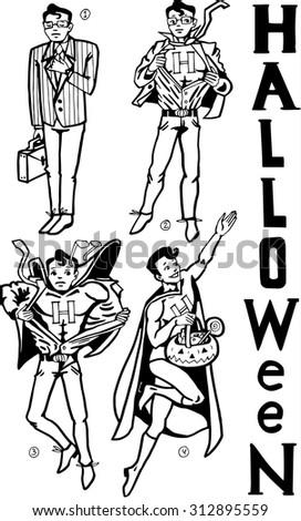 Halloween Super Hero - stock vector