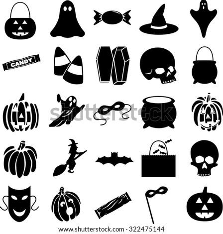 Halloween Symbols Set Stock Vector 322475144 - Shutterstock